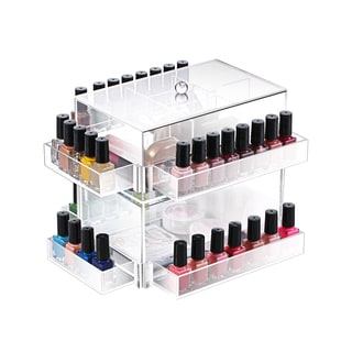 Ikee Design Clear Acrylic Rotating Makeup Organizer