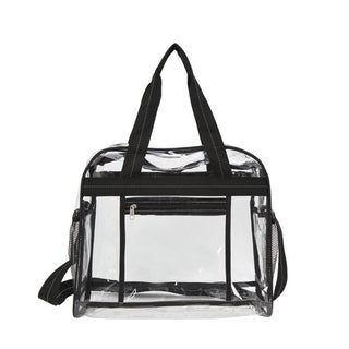 Goodhope Clarity Clear Mesh/Plastic/Vinyl Messenger Bag