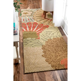 nuLOOM Handmade Indoor/Outdoor Floral Runner Rug (2'6 x 8')