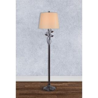 Design Craft Vine Blackened Oil Rubbed Bronze 57-inch Floor Lamp
