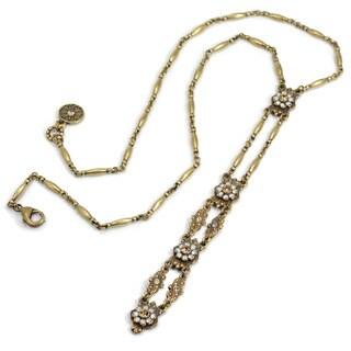 Sweet Romance Art Deco Starlight Bronze Y Necklace