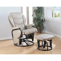 Coaster Company Off-White Upholstered Glider with Ottoman