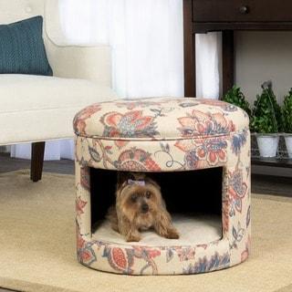 HomePop Hideaway Ottoman Dog or Cat Bed
