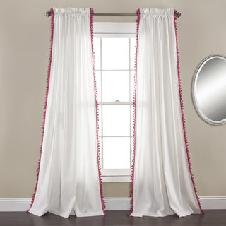 Lush Decor Urban Tassel Window Curtain Set