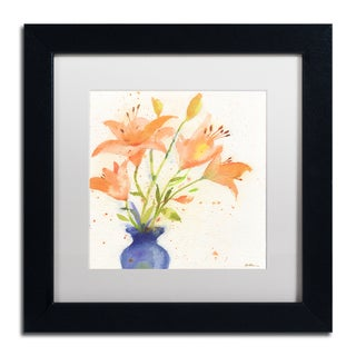 Sheila Golden 'Tiger Lily Bouquet' Matted Framed Art