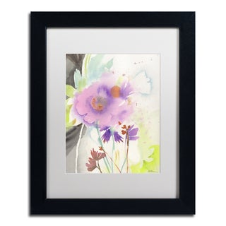 Sheila Golden 'Mauve Garden Shadows' Matted Framed Art