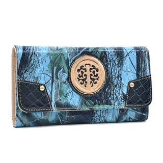 Dasein Faux Patent Tri-fold Wallet