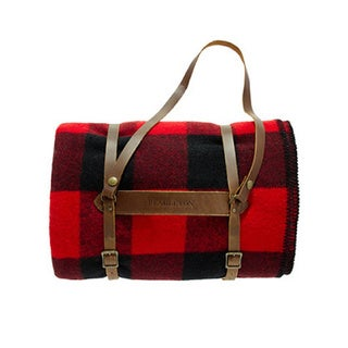 Pendleton Rob Roy Twin Extra Long Blanket with Leather Carrier