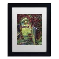 David Lloyd Glover 'Wicket Garden Gate' Matted Framed Art