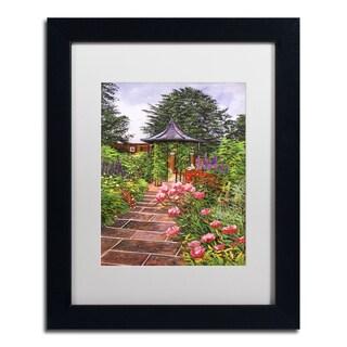 David Lloyd Glover 'Carrington Garden' Matted Framed Art