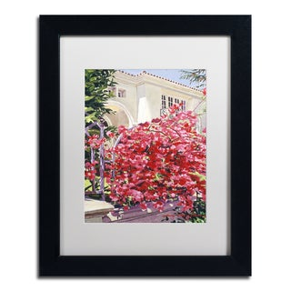 David Lloyd Glover 'Pink Bougainvillea Mansion' Matted Framed Art