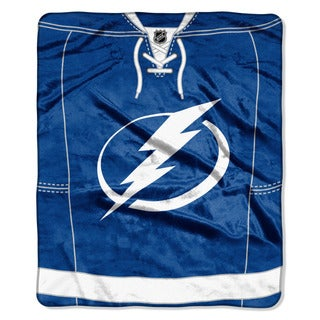 NHL 670 Lightning Jersey Raschel Throw