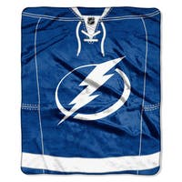 NHL 670 Lightning Jersey Raschel Throw