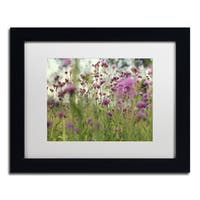 Beata Czyzowska Young 'Field of Purple' Matted Framed Art