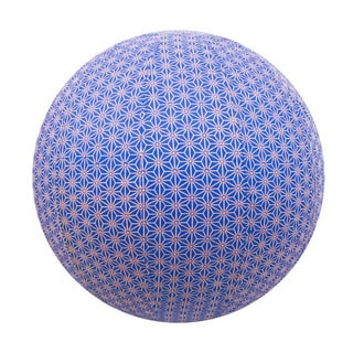 Handmade Yoga Ball Cover Cobalt Geometric Design (Thailand)