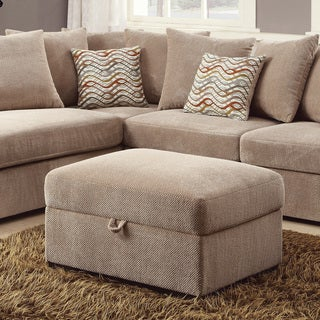 Coaster Company Microfiber Lift-top Storage Ottoman