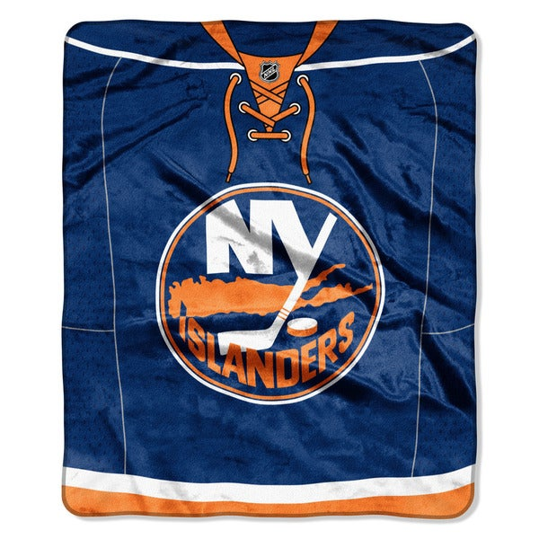 NHL 670 Islanders Jersey Raschel Throw