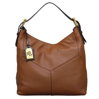 Ralph Lauren Landrey Zip Top Hobo