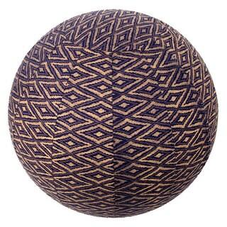 Handmade Yoga Ball Cover Navy Ikat Design (Thailand)