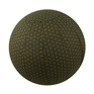 Handmade Yoga Ball Cover Olive Geometric Design (Thailand)