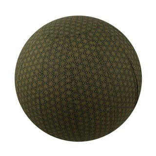 Handmade Yoga Ball Cover Olive Geometric Design (Thailand)|https://ak1.ostkcdn.com/images/products/12187075/P19036632.jpg?impolicy=medium