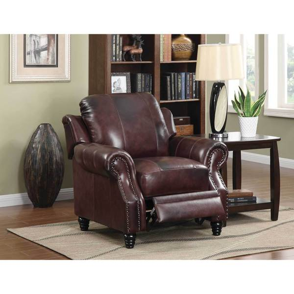 coaster company power lift tri tone brown leather recliner free