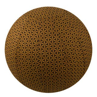 Handmade Yoga Ball Cover Chocolate Flower of Life Design (Thailand)|https://ak1.ostkcdn.com/images/products/12187117/P19036633.jpg?impolicy=medium