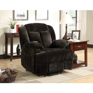 Brown Power Lift Velvet Recliner