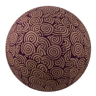 Handmade Yoga Ball Cover Plum Swirl Design (Thailand)
