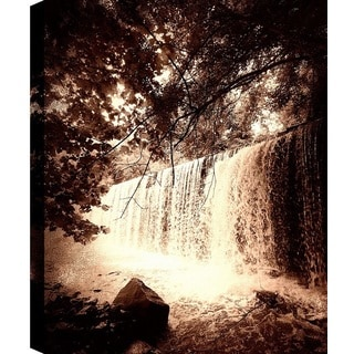 Hobbitholeco., P.T.Turk, Deep Waterfalls, Landscape Photography Wall Art Decor, Gallery Wrapped 18X24, Ready to Hang.