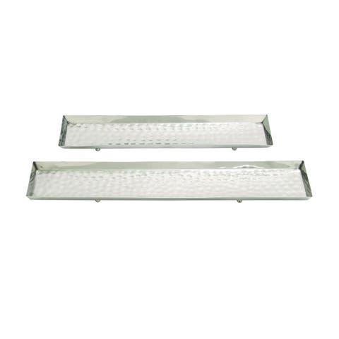 Stainless Steel Platter (Set of 2)