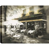 ArtMaison Canada. P.T.Turk 'Cafe' 18-inch x 24-inch Ready-to-hang Gallery-wrapped Landscape Photography Wall Art