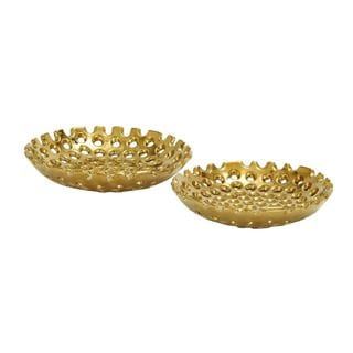 Ceramic Gold Plate (Set of 2)