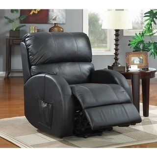 Coaster Company Black Power Lift Leather Recliner