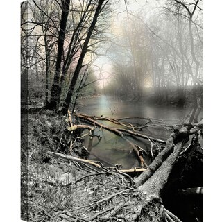 Hobbitholeco P. T. Turk 'The Lake' Landscape Photography 18-inch x 24-inch Ready-to-hang Gallery-wrapped Wall Art Decor