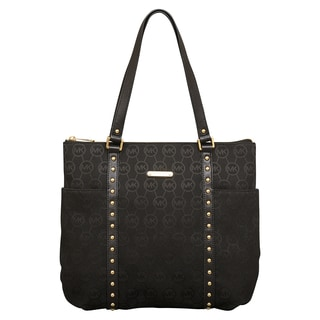 Michael Kors Large Jet Set Stud Top Zip Tote