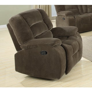 Brown Velvet Reclining Chair