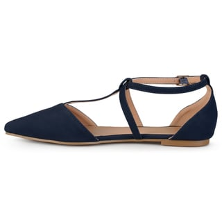 Journee Collection Women's 'Keiko' D'orsay T-strap Flats