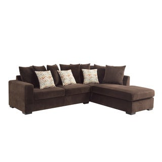 Coaster Company Brown Chenille Cushioned Sectional