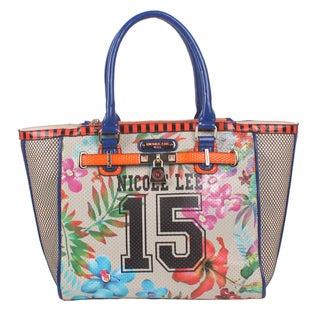 Nicole Lee Numeric Beige 15 Print Tote Bag