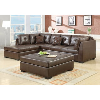 Coaster Company Brown Leather Sectional