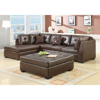 brown sectional living room. Coaster Company Brown Leather Sectional Sofas For Less  Overstock com