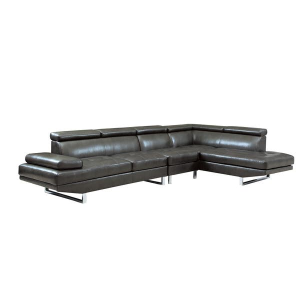 Peachy Shop Coaster Company Black Tufted Sectional Sofa Free Machost Co Dining Chair Design Ideas Machostcouk
