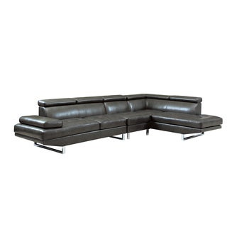 Coaster Company Black Tufted Sectional Sofa