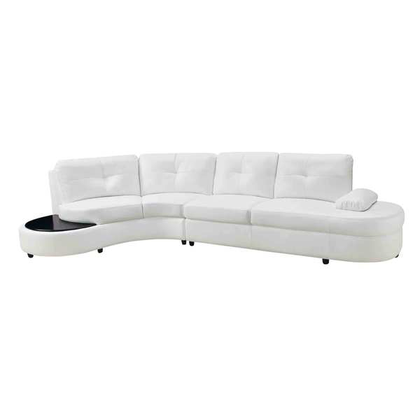 Stupendous Coaster Company White Leather Sectional Sofa Machost Co Dining Chair Design Ideas Machostcouk