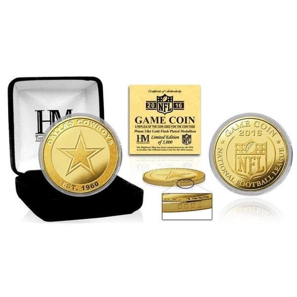 "Dallas Cowboys 2016 Gold Game ""Flip"" Coin"