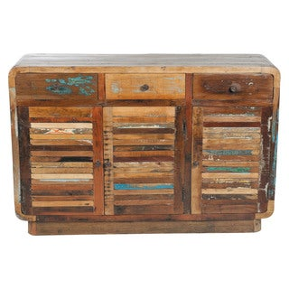 Retro Reclaimed Indian Mango Wood Shutter Sideboard