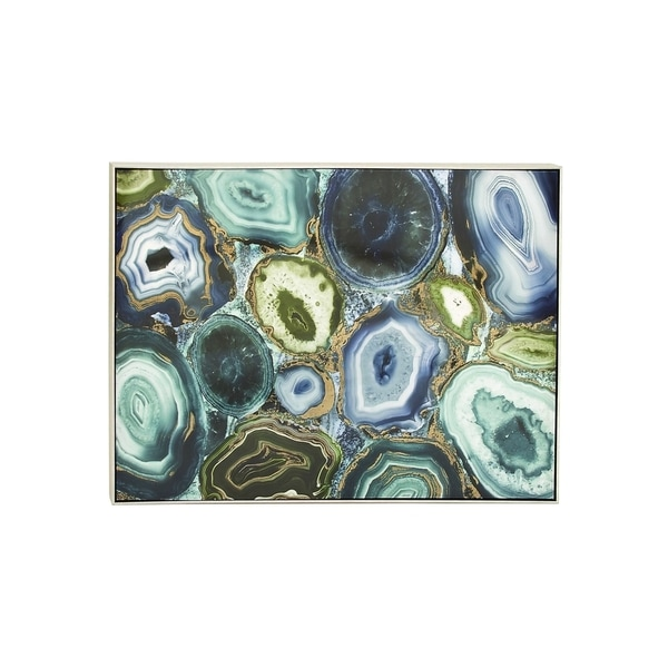 Abstract Geode Gold Foil and Lacquered Wall Art