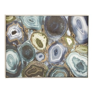 Transitional 36 Inch Abstract Geode Canvas Wall Art by Studio 350 - Multi-color
