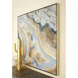 Framed Art with Gold Foil and Lacquer